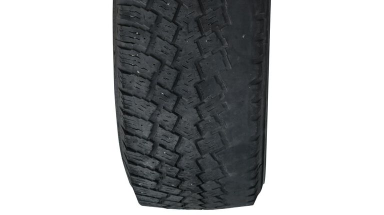 Uneven tread wear on tires