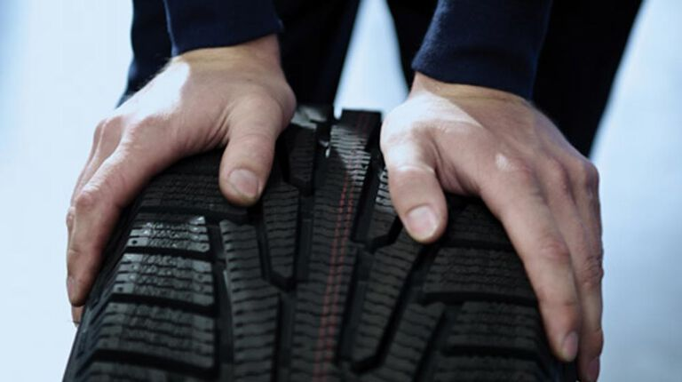 Different tires on car