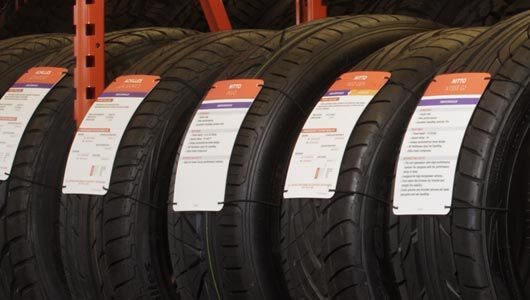 Directional tires rotation pattern