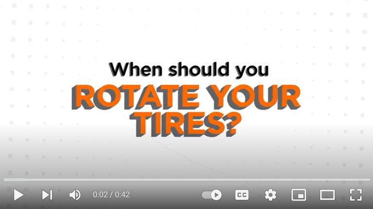 When to rotate your tires