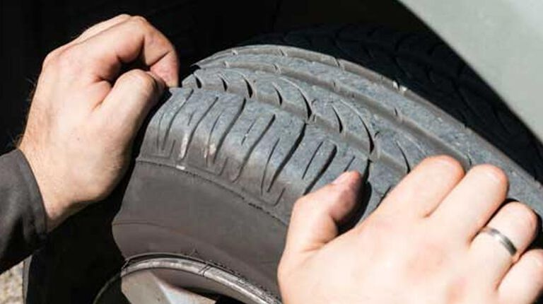Checking tread depth for tires