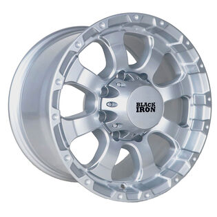 Black Iron Vigilante Silver Wheel