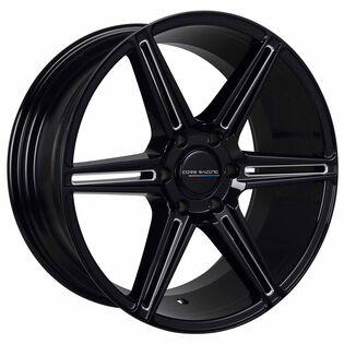 Core Racing Esteem Black Gloss Milled Wheel