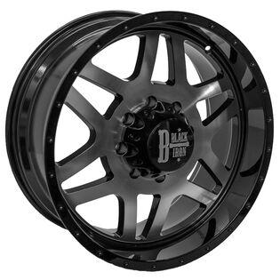 Black Iron Brawler Black Gloss Machined Wheel