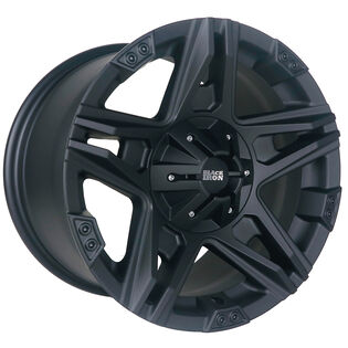 Black Iron Tomahawk Black Satin Wheel
