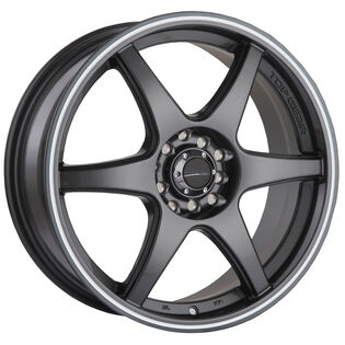 Street Gear Top Gear Black Gloss Machined Wheel