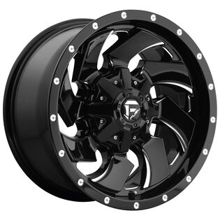 Fuel Cleaver Black Milled Wheel