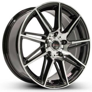 Street Gear Element Black Gloss Machined Wheel