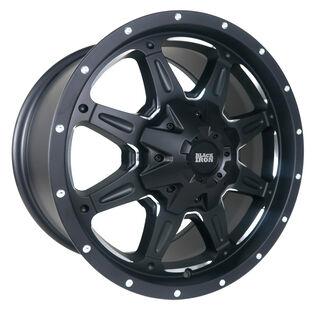 Black Iron Tracker Black Milled Wheel