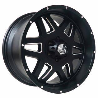 Black Iron Brawler Black Satin Milled Wheel