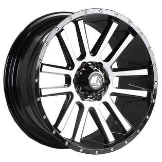 Black Iron Spur Black Machine Wheel