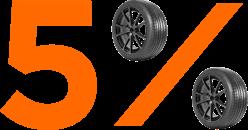 5% savings