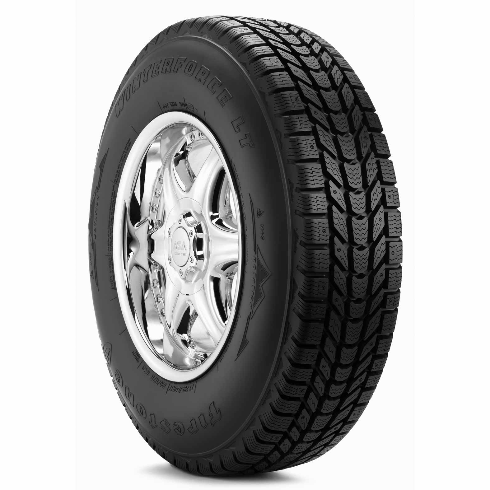Firestone Winterforce LT tire - angle