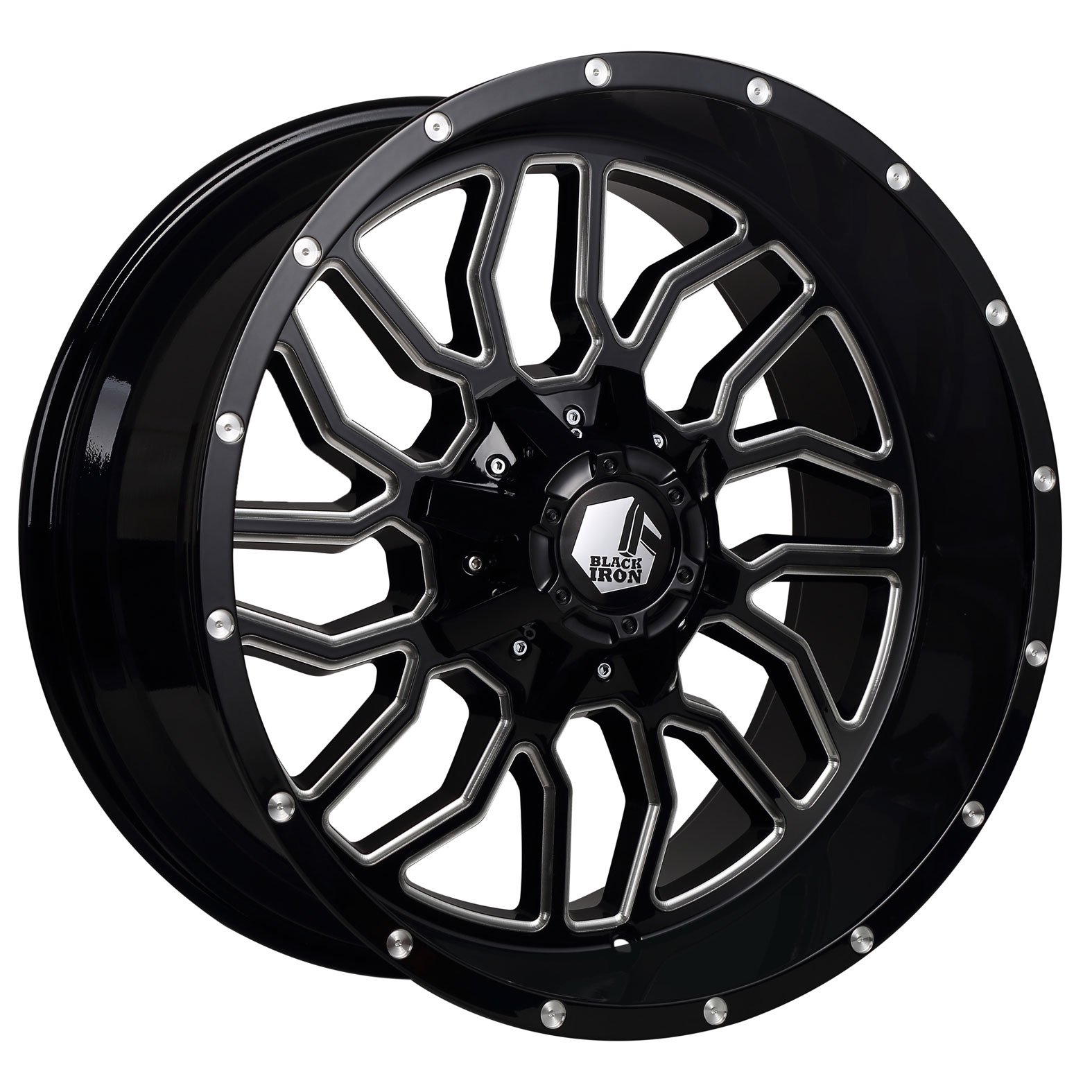 Black Iron Kodiak Black Gloss Milled Wheel