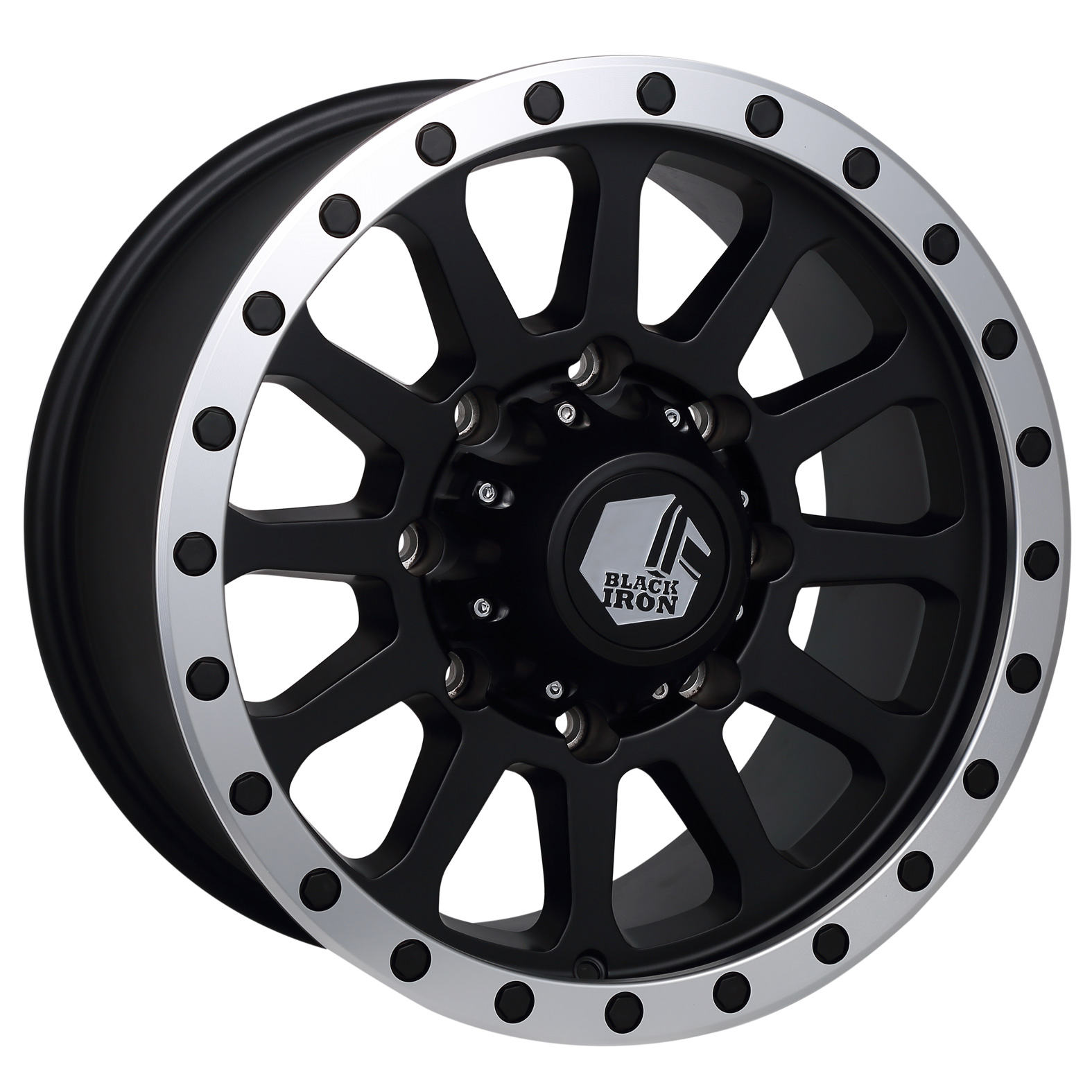 Black Iron Taiga Black Satin Wheel