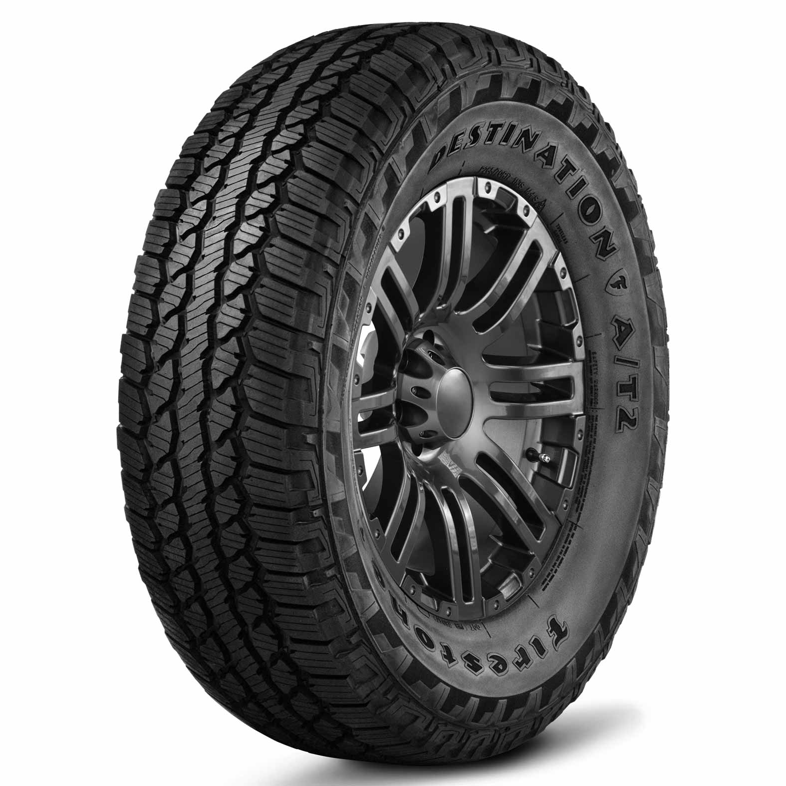 Firestone Destination A/T2 tire - angle