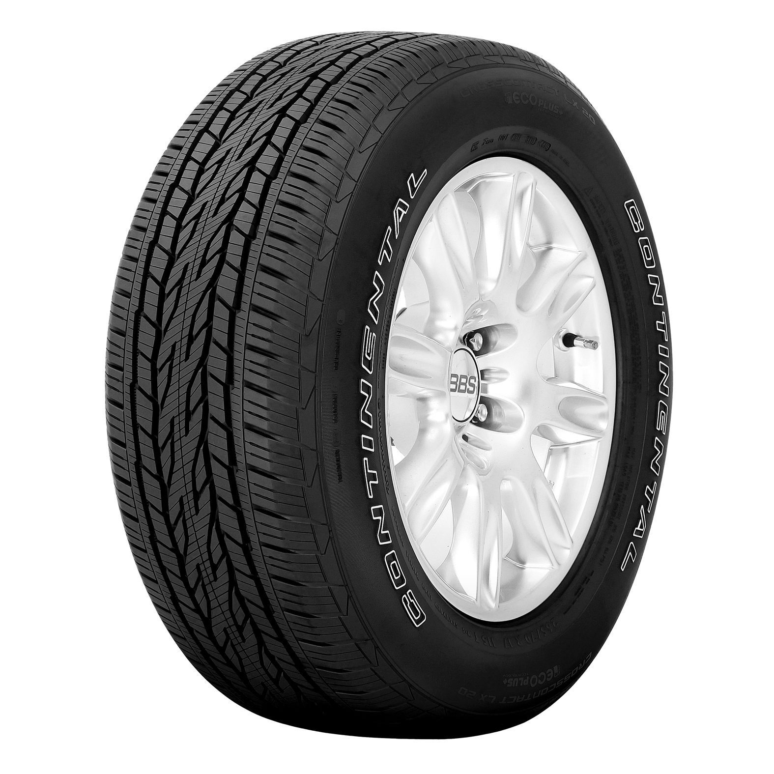 Continental CONTICROSSCONTACT LX20 tire - angle