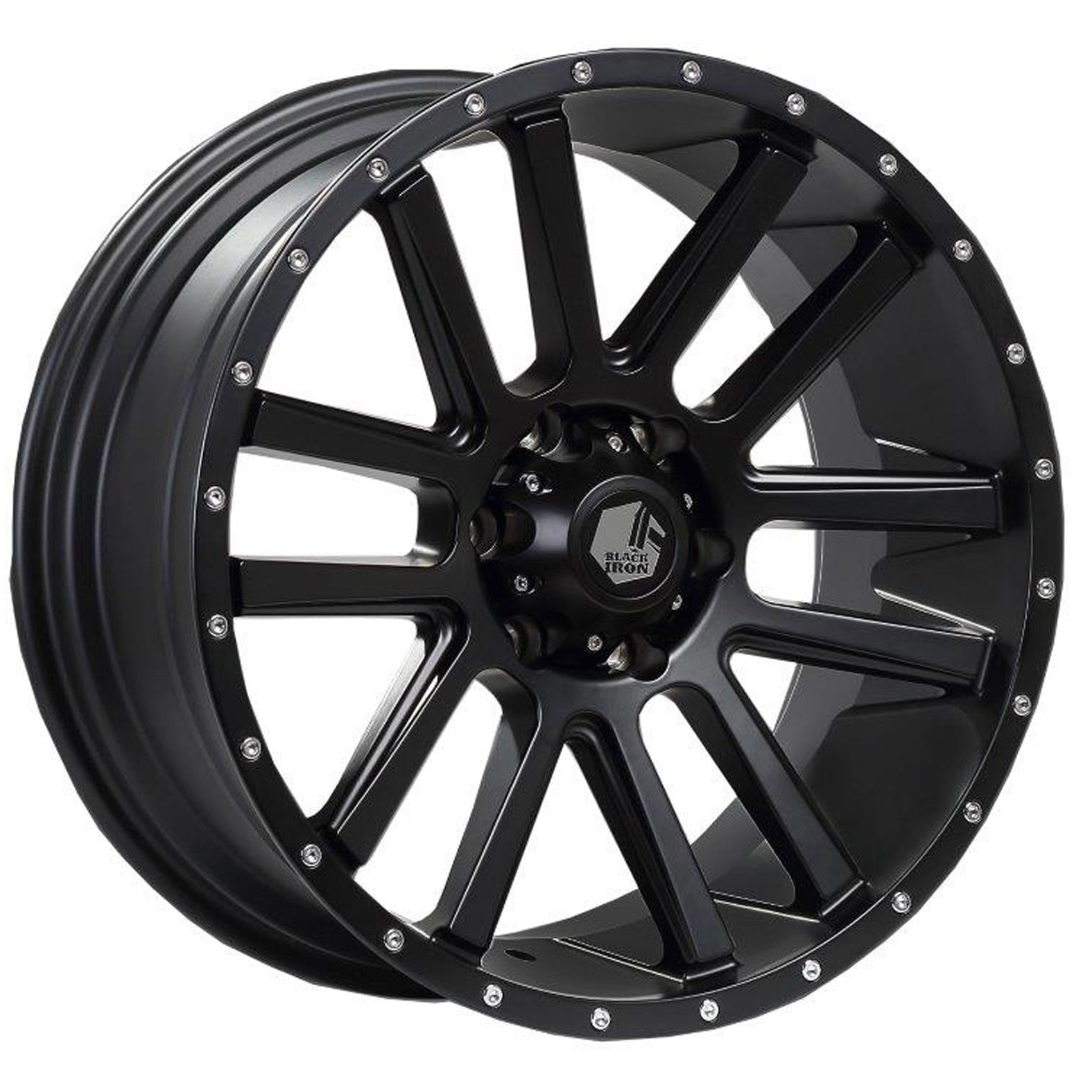 Black Iron Spur Black Satin Wheel