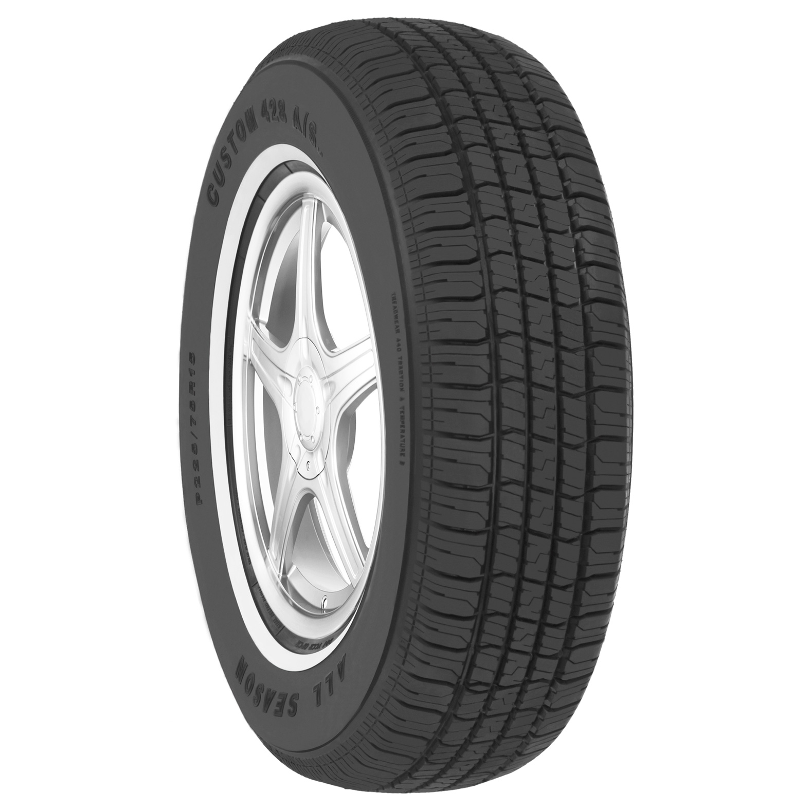 Multi-Mile Custom 428 A/S tire - angle