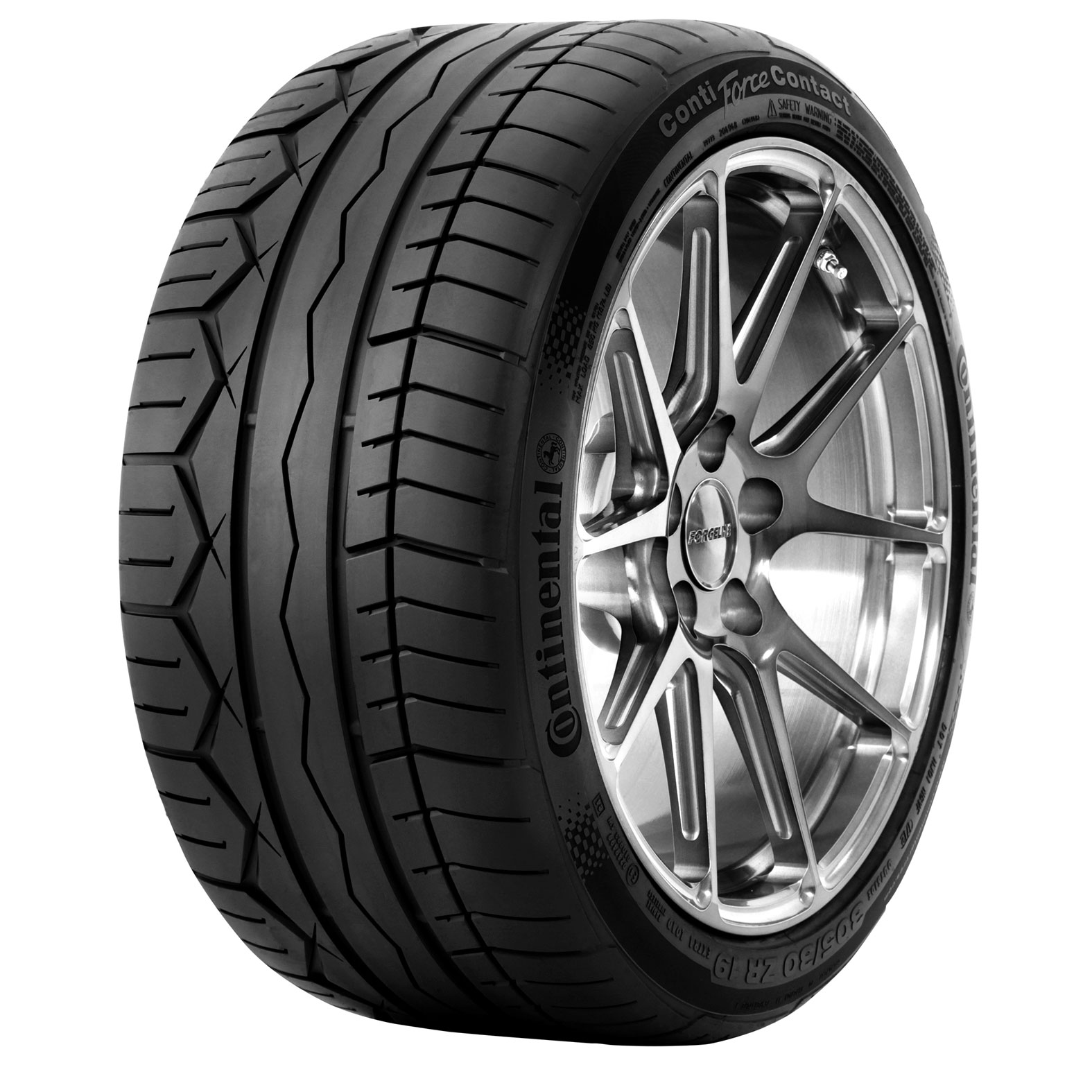 Continental CONTIFORCECONTACT tire - angle