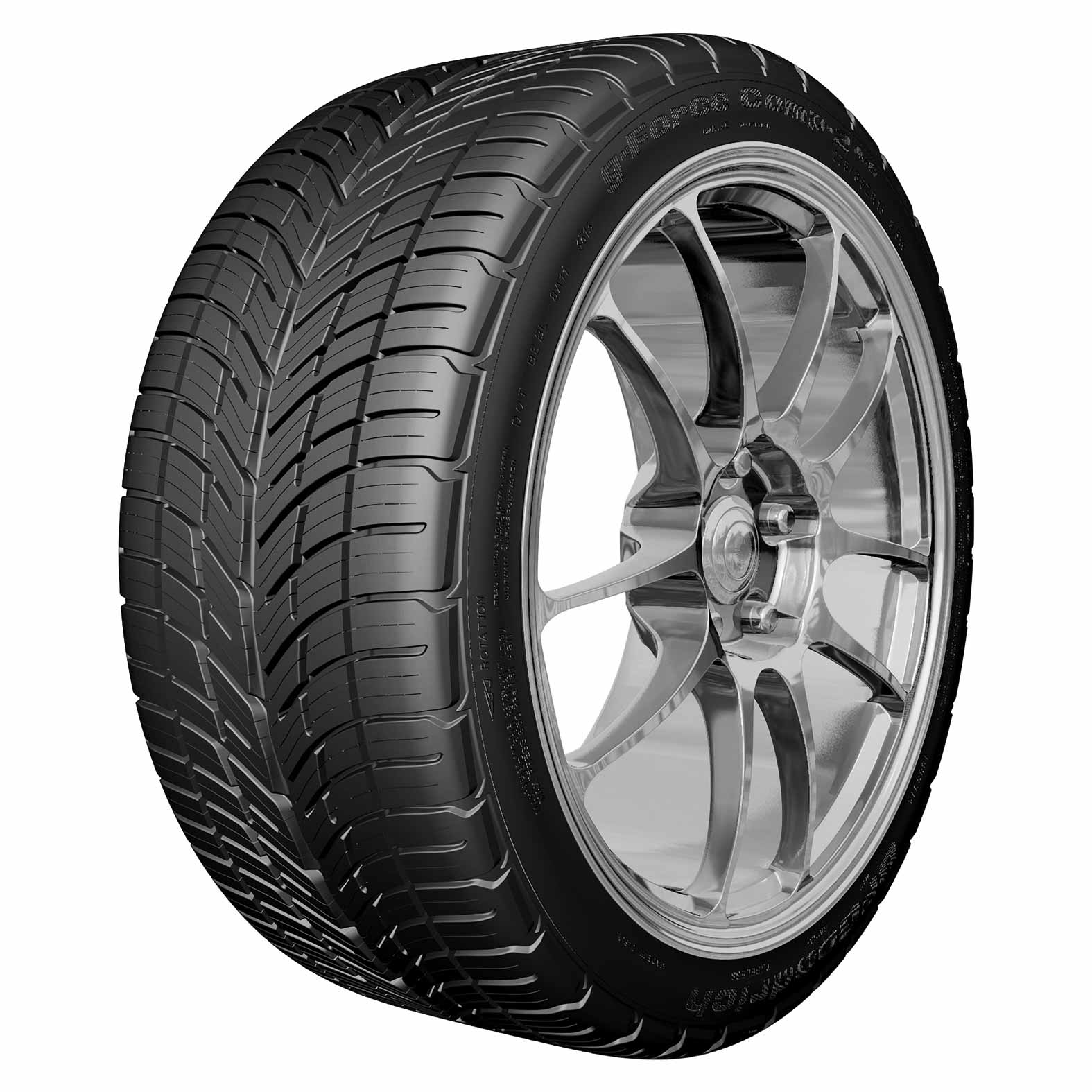 BFGoodrich G-Force Comp 2 AS tire - angle