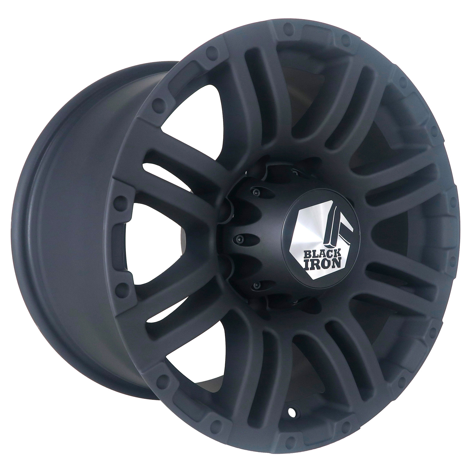 Black Iron Rebel Black Matte Wheel