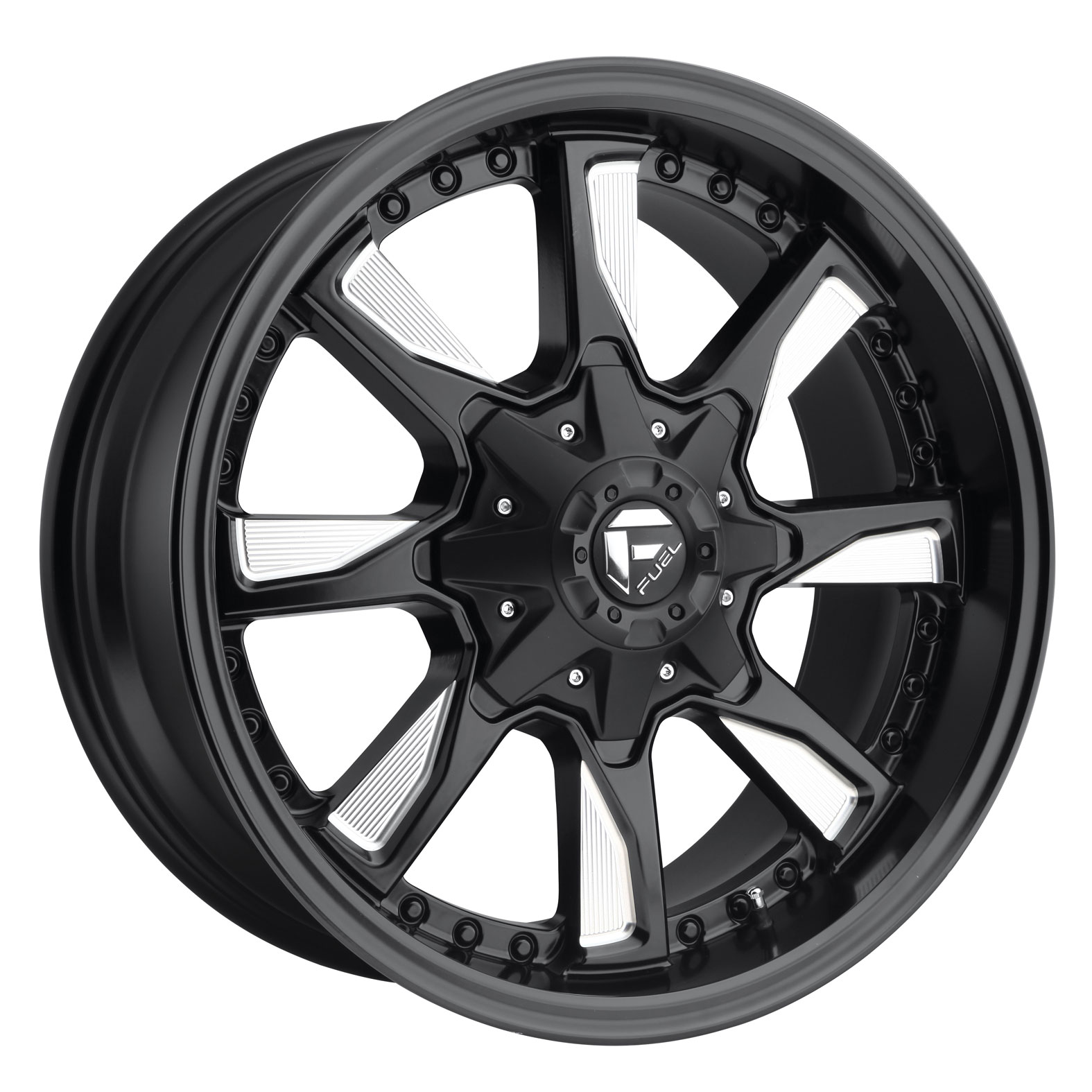 Fuel Hydro Black Milled Wheel