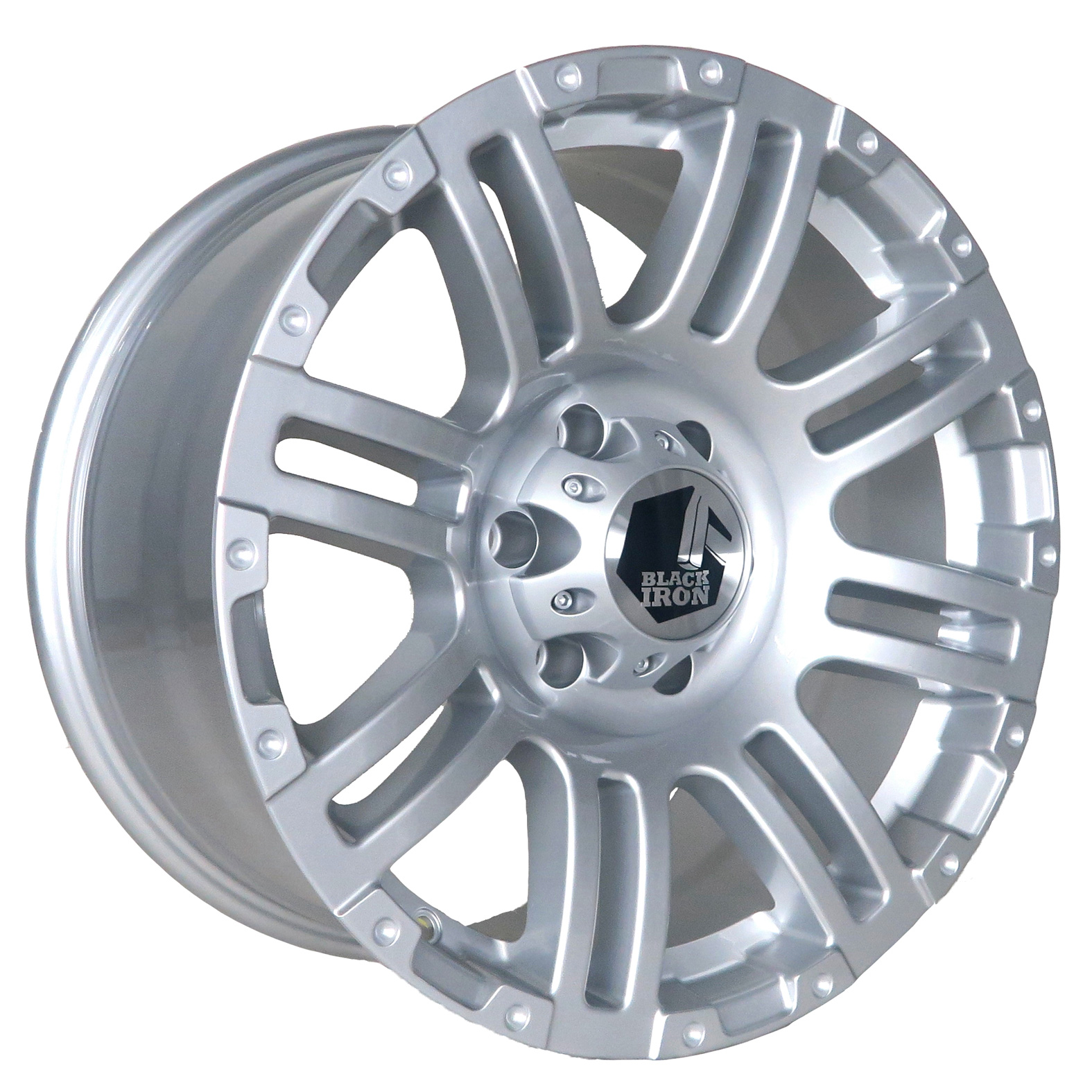 Black Iron Rebel Silver Wheel