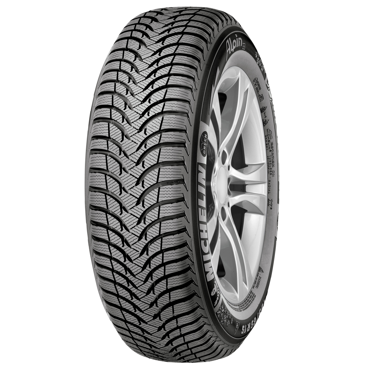 Michelin ALPIN A4 tire - angle
