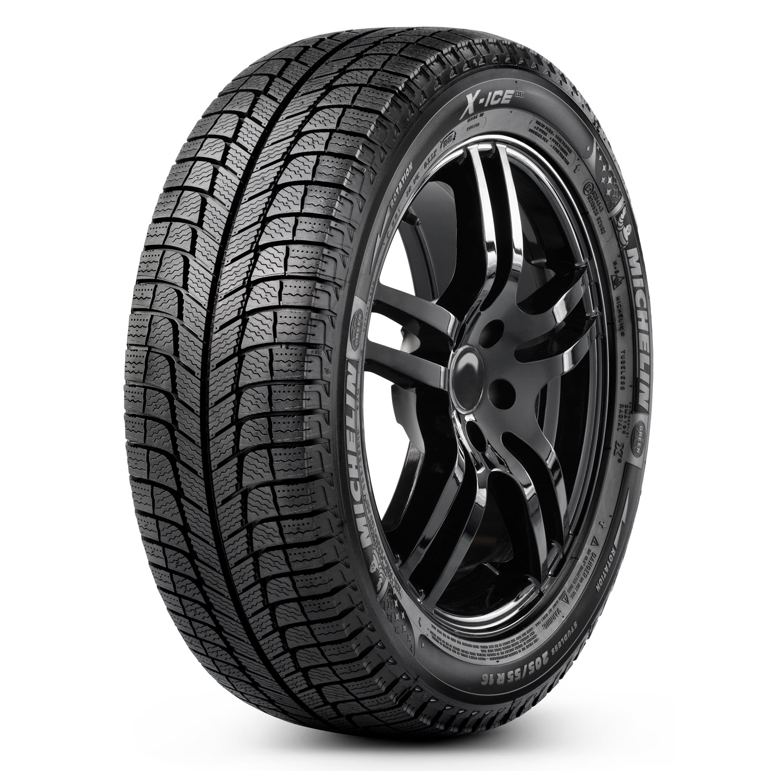 Michelin X-ICE XI3 tire - angle
