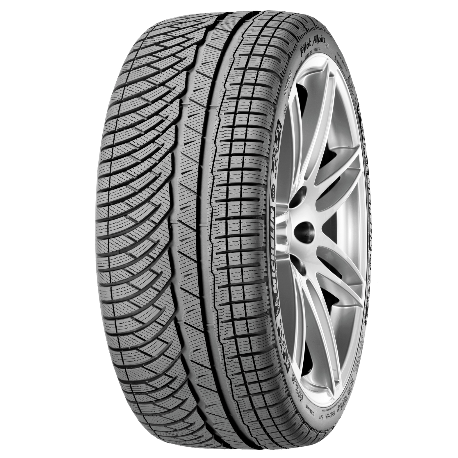 Michelin PILOT ALPIN PA4 tire - angle