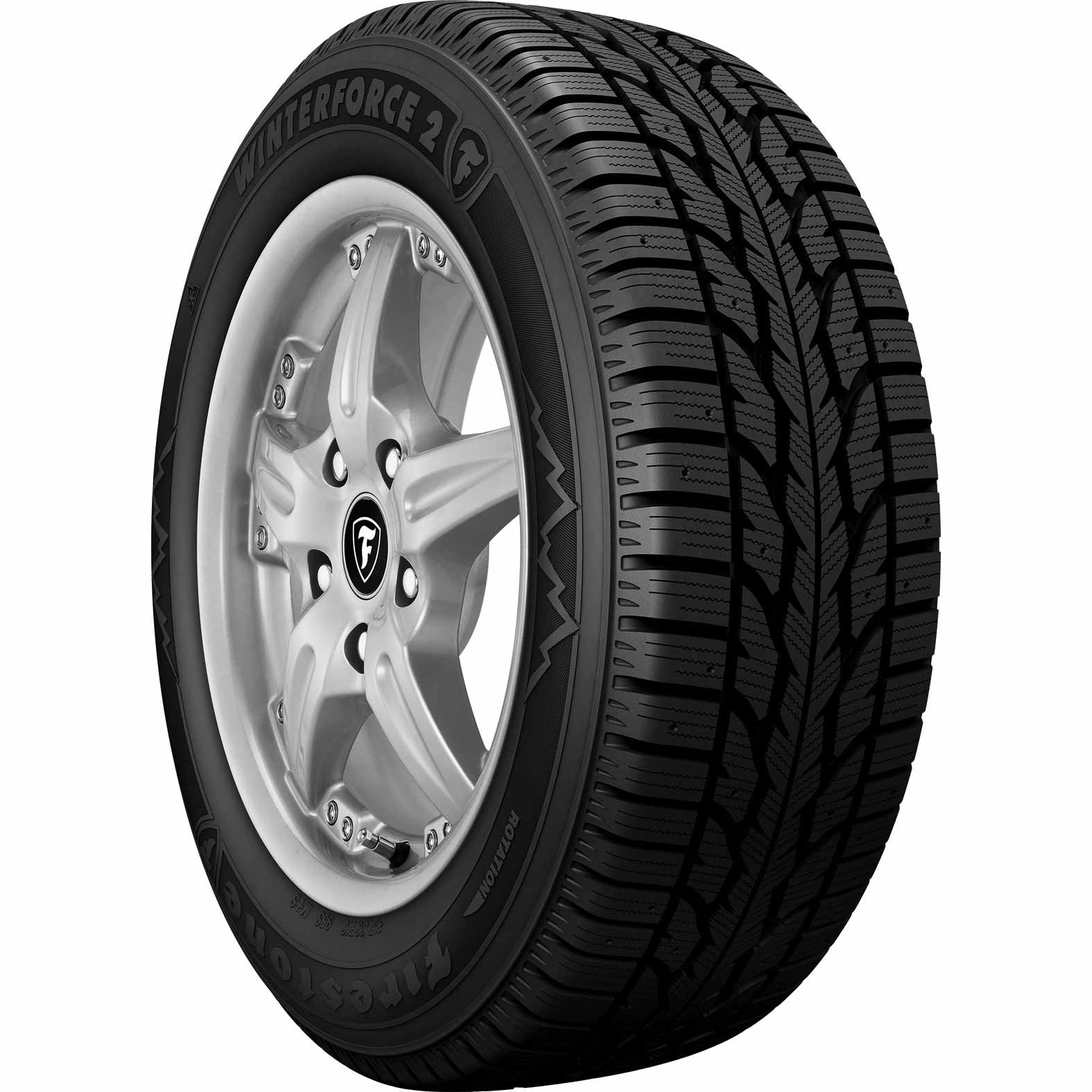 Firestone Winterforce 2 tire - angle