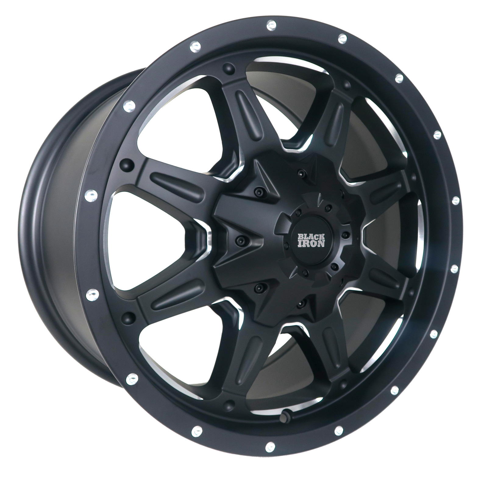 Black Iron Tracker Black Milled Wheel