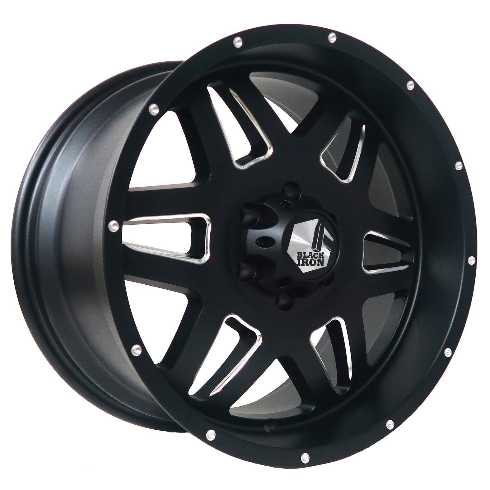 Black Iron Brawler Black Satin Milled Wheel