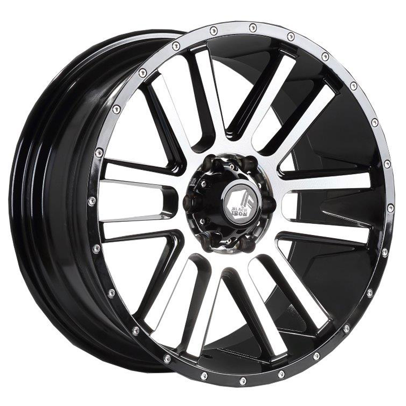Black Iron Spur Black Machine Wheel